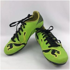 PUMA Lime Green Socker Football Cleats Youth